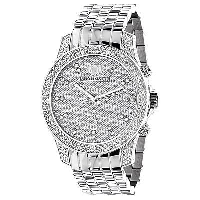 Luxurman Mens Diamond Watch 0.50 ct