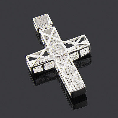 10k gold diamond cross pendant 072ct iceberg diamonds inc 10k gold diamond cross pendant 072ct mozeypictures Gallery