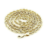 14K Yellow Gold Rope Chain 5mm 22-30in