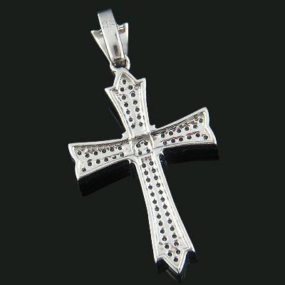 14k gold designer pave diamond cross pendant 031ct iceberg 14k gold designer pave diamond cross pendant 031ct aloadofball Image collections