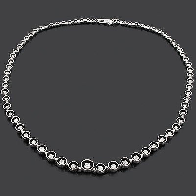Designer Diamond Journey Necklace 2.62ct 18K Gold