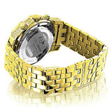 Luxurman Mens Diamond Watch 0.5ct Yellow Gold Plated