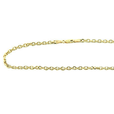 14K Gold Cable Chain, 20in-40in long, 3mm wide Acc