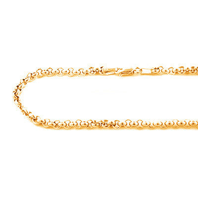 14K Yellow Gold Rolo Chain Oval Design 4.5mm 22in - 34in Acc