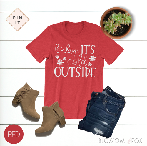 baby-it's-cold-outside-womens-christmas-tee-shirt