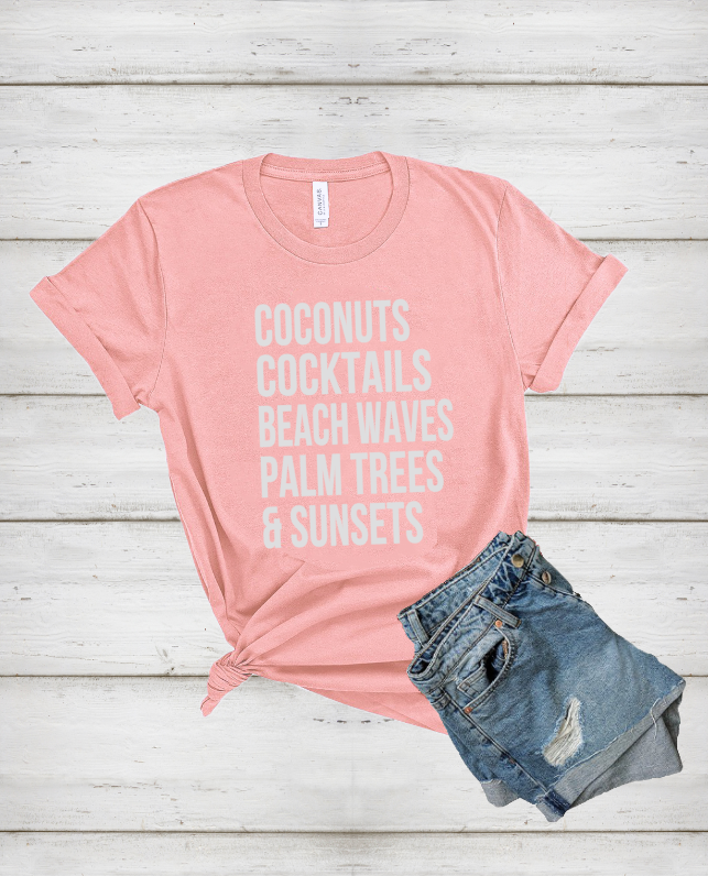 Coconuts-Cocktails-Beach-Waves-Palm-Trees-and-Sunsets-summer-tank-tshirt