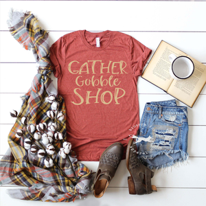 Gather-gobble-shop-thanksgiving-black-friday-shirt