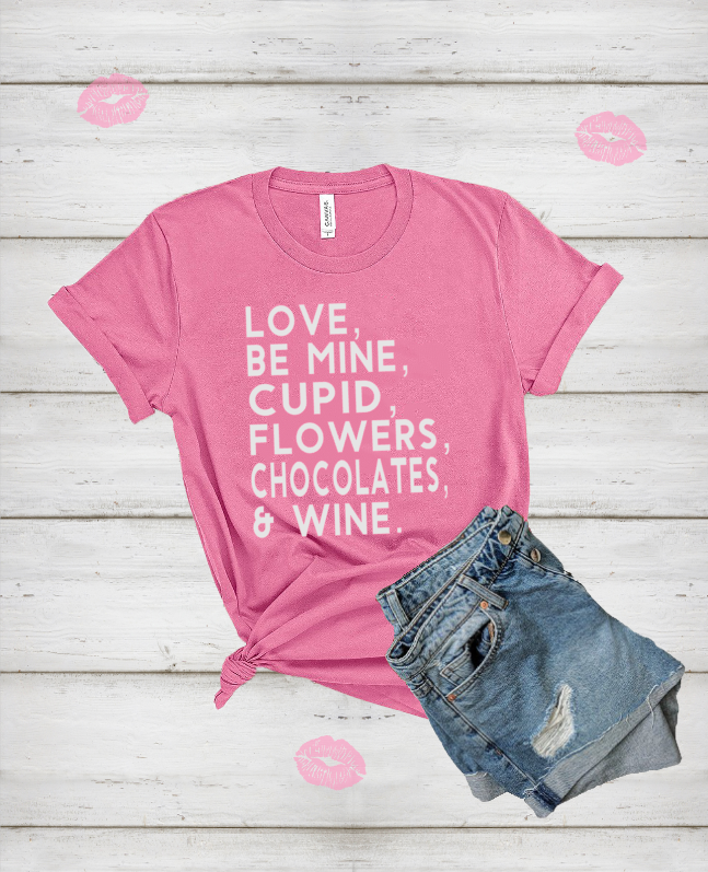 Valentine-list-shirt-be-mine-cupid-flowers