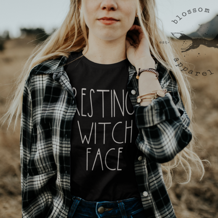 resting-witch-face-shirt-womens-t-shirt