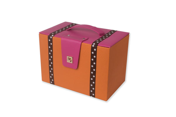 Orange and Pink Basket with a Lid IP/GPS/L-001
