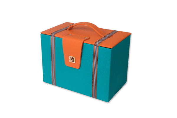 Orange and Blue Basket with a Lid IP/GPS/L-002