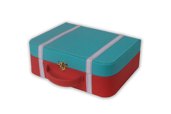 Blue and Red Mini Suitcase IP/GPS/L-003