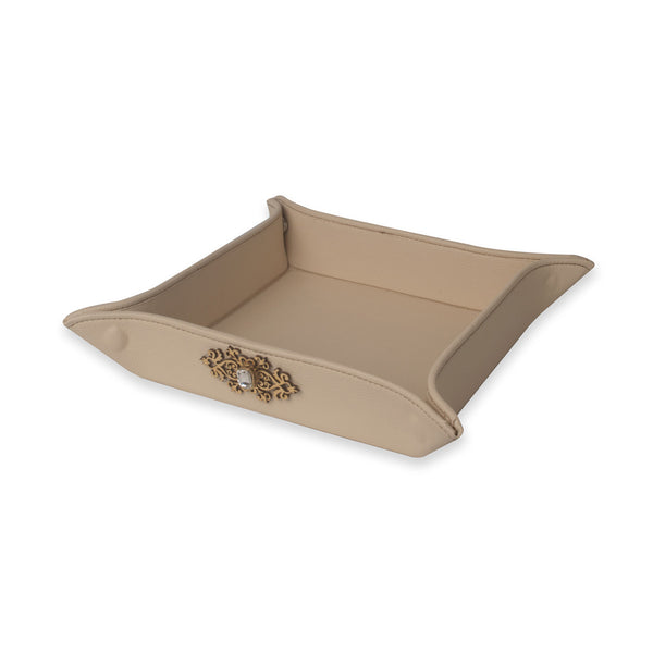 Faux Leather Tray IP/LT-001