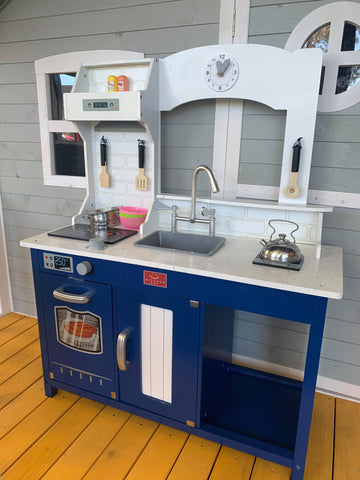 Navy Blue & White Play Kitchen