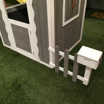 Petite Shack Painted Dark Grey/White