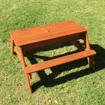 Kids Picnic Table with Umbrella and Storage
