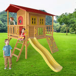 Play Shack cubby house on green grass with kids playing