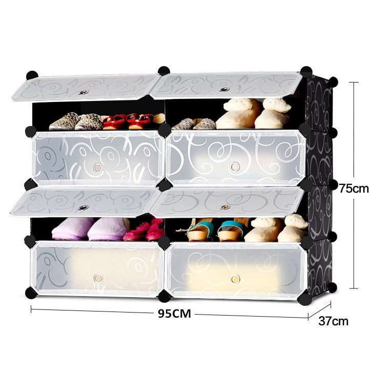 Stylish Shoe Cabinet 8 Compartment