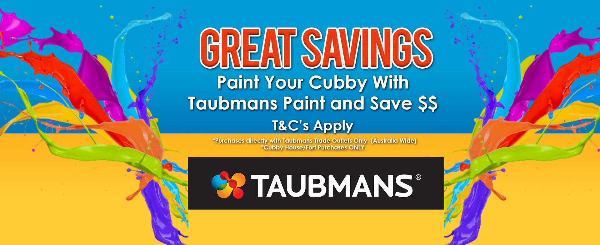 discount code for taubmans paint for cubby house