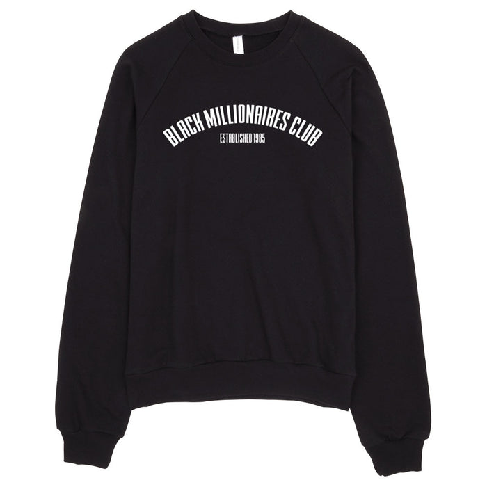 BLACK MILLIONAIRES CLUB BIRTH SWEATSHIRT - BLACK - SIOBHAN HUNTER BRAND