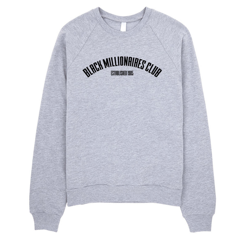 BLACK MILLIONAIRES CLUB BIRTH SWEATSHIRT - GREY - SIOBHAN HUNTER BRAND