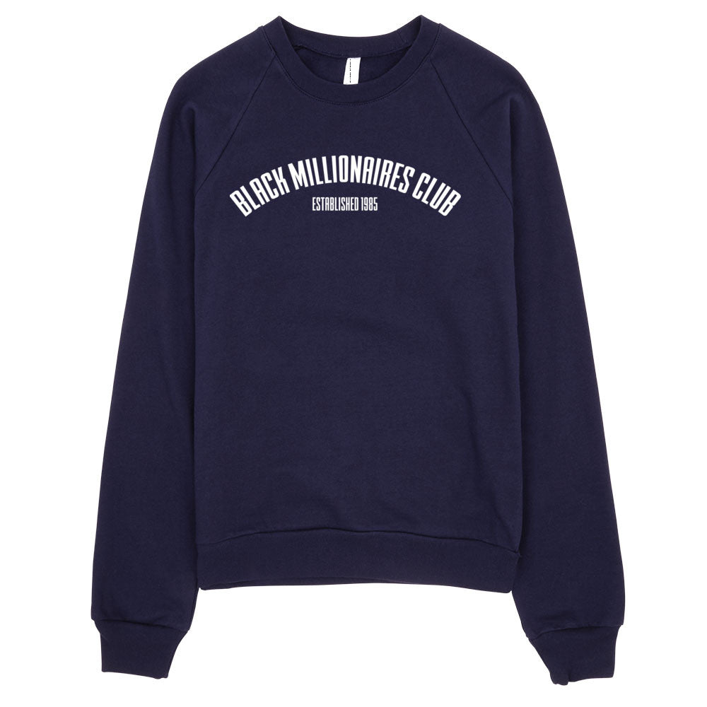 BLACK MILLIONAIRES CLUB BIRTH SWEATSHIRT - NAVY - SIOBHAN HUNTER BRAND