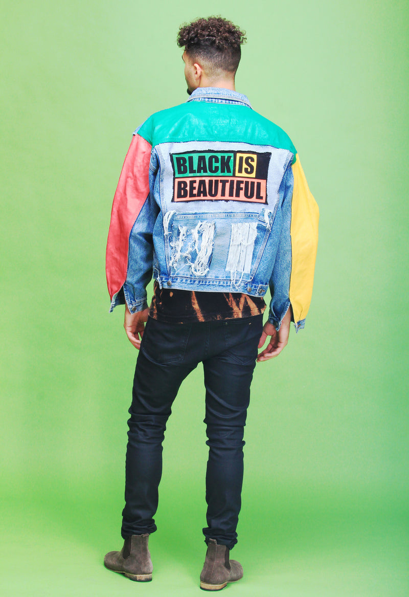 BLACK IS BEAUTIFUL DENIM JACKET - SIOBHAN HUNTER BRAND