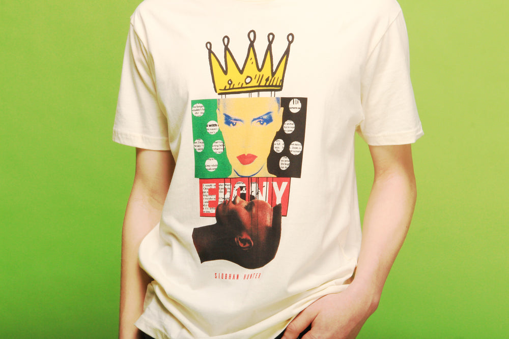 CROWNED POKER FACE UNISEX T-SHIRT - SIOBHAN HUNTER BRAND