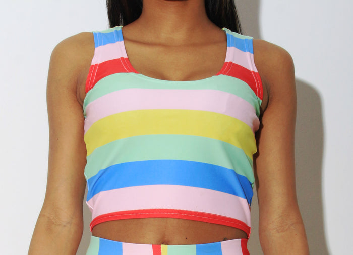 HUMANKIND SLEEVELESS CROP TOP - SIOBHAN HUNTER BRAND