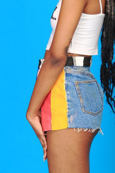 TELEVISED RETRO DENIM SHORTS - SIOBHAN HUNTER BRAND