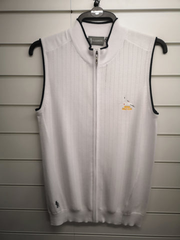 Ladies Glenmuir Full Zip sleeveless Jumper Size Medium