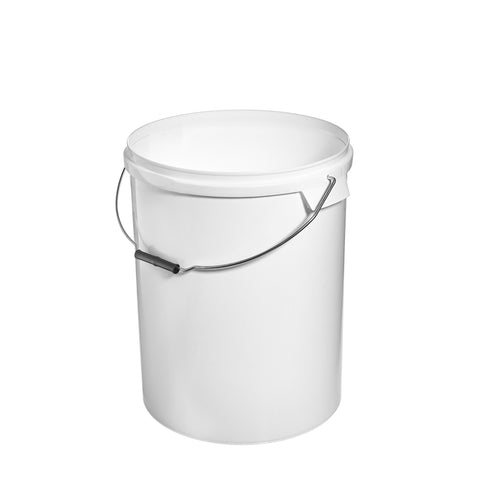 33Ltr White Pail with Metal Handle - 25 qty
