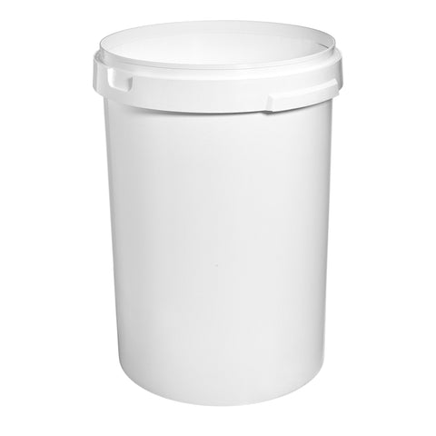 60Ltr White Pail with No Handle - 10 qty