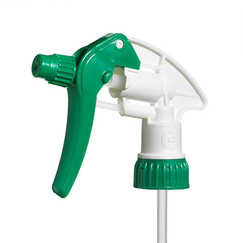 Green/White shallow neck Adjustable Spray Trigger