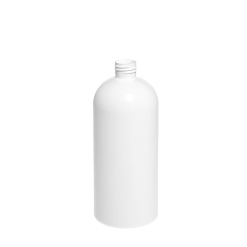 500ml White Boston Bottle - 135 qty