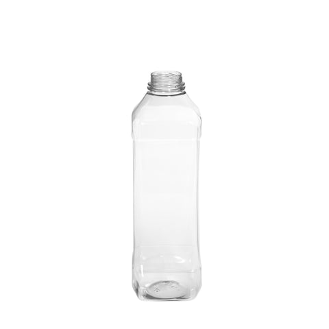1Ltr Clear Square Juice Bottle - 52 qty