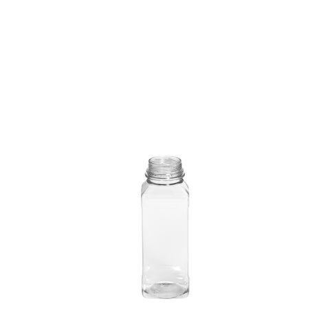 250ml Clear Square Juice Bottle - 240 qty