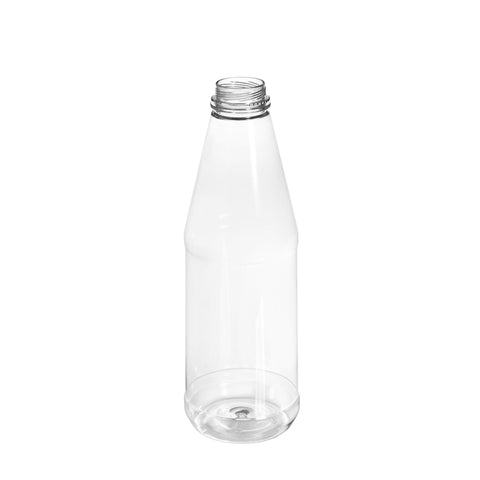 750ml Clear Round Juice Bottle - 72 qty
