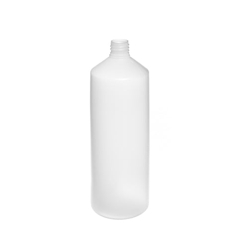 1Ltr Natural Cylindrical Bottle (28/410 neck) - 96 qty
