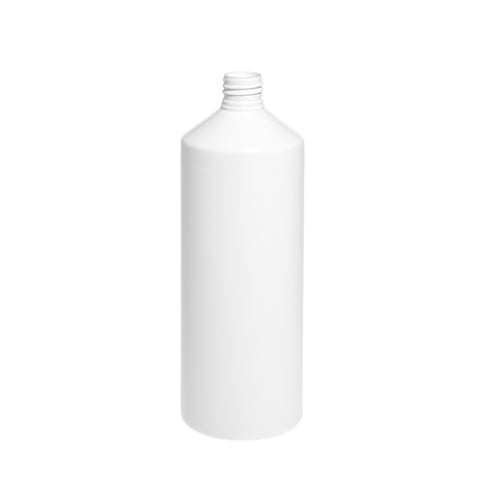1Ltr White Cylindrical Bottle - 96 qty