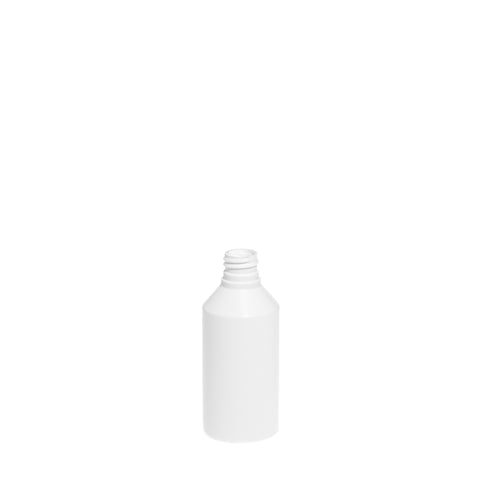 100ml White Cylindrical Bottle (20/410 neck)