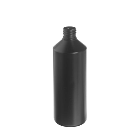 500ml Black Cylindrical Bottle - 216 qty