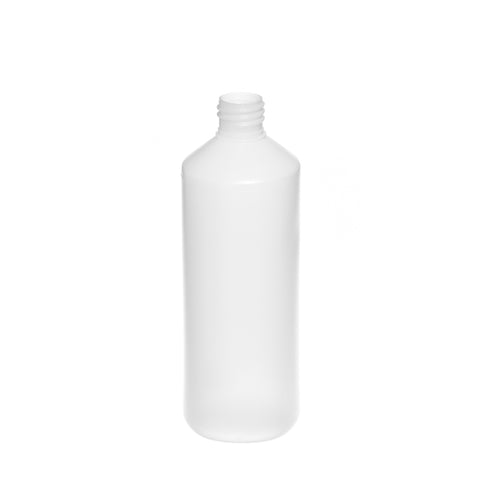 500ml Natural Cylindrical Bottle (28/410 neck) - 216 qty