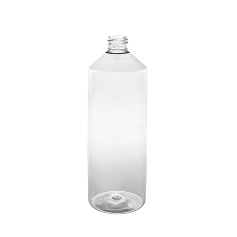 1Ltr (1000ml) clear PET Boston bottle – 80 qty