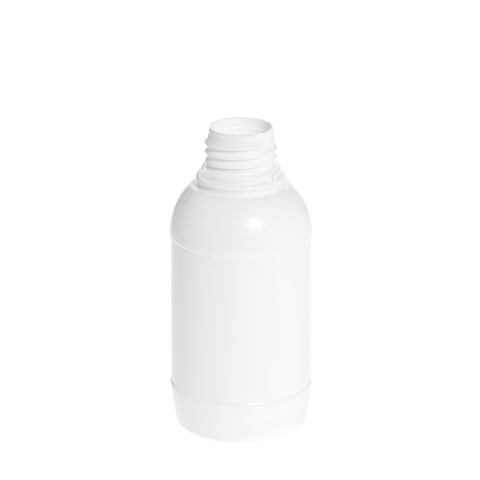 250ml White Standard Round Bottle - 210 qty