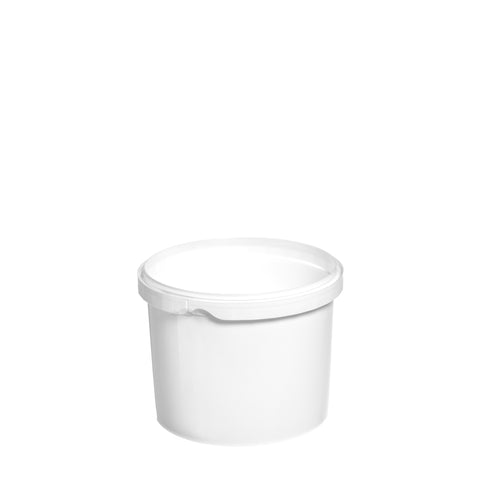 1Ltr White Low Tub - 200 qty