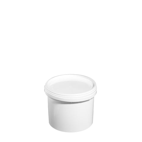 2.5Ltr White Pail with Plastic Handle