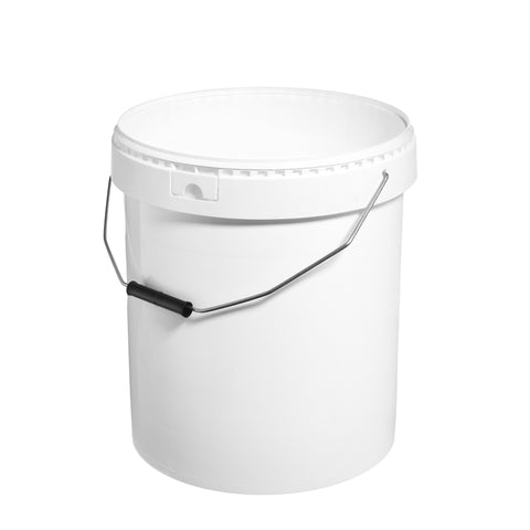 20Ltr White Pail with Metal Handle
