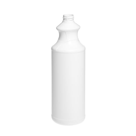 1Ltr White Snowdon Waisted Bottle - 84 qty