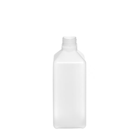 1Ltr Natural Heavy Duty Square Bottle